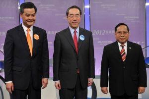 2012年特首選舉的三位候選人。