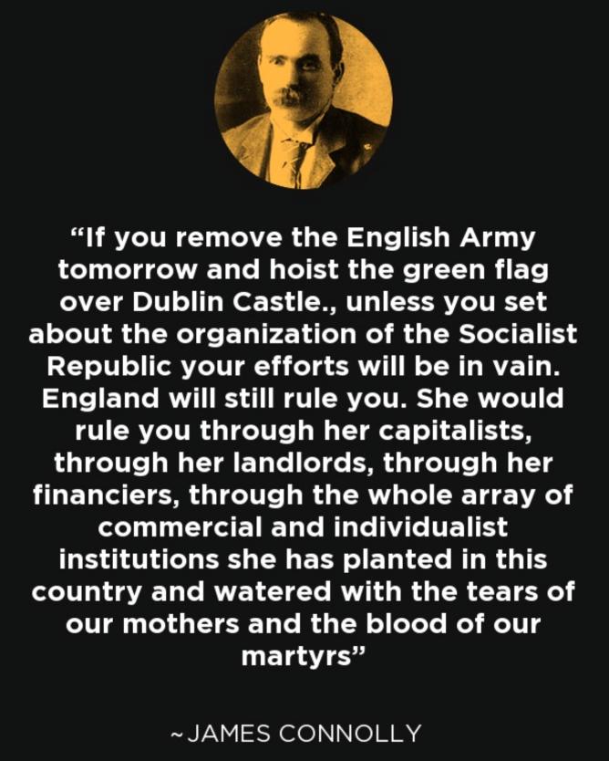 愛爾蘭革命馬克思主義者詹姆斯·康諾利的一則明言