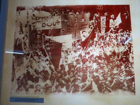 阿拉伯國家抗議帝國主義侵略古巴的遊行。