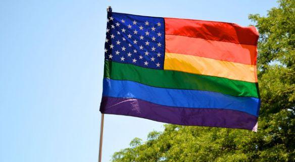 美國彩虹旗(網路圖片)