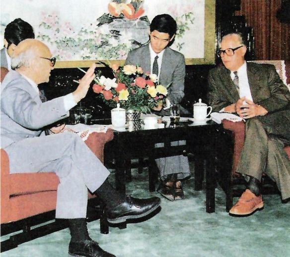 1988年9月,大陸價格改革造成激烈通脹之際,趙紫陽接見新自由主義大師弗里德曼(即佛利民)。
